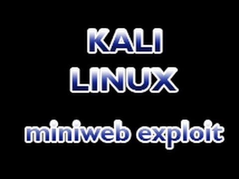 Kali Linux - Mini Web Arbitrary Upload Exploit