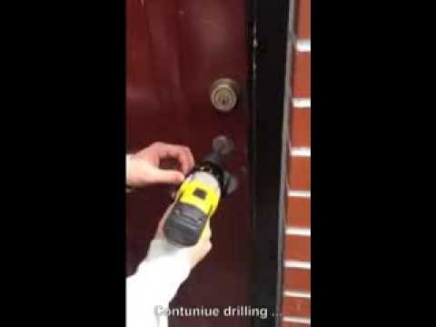 How to open a lock under 5 mins by drilling out a cylinder