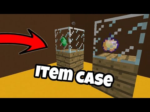 How to make an item display case in minecraft 1.2