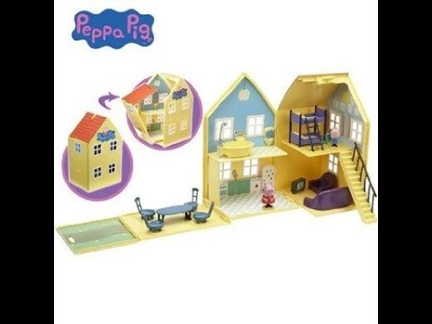 Unboxing Peppa Pig House Deluxe Peppa Pig Playhouse review open box