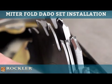 Rockler Miter Fold Dado Set Installation Tips