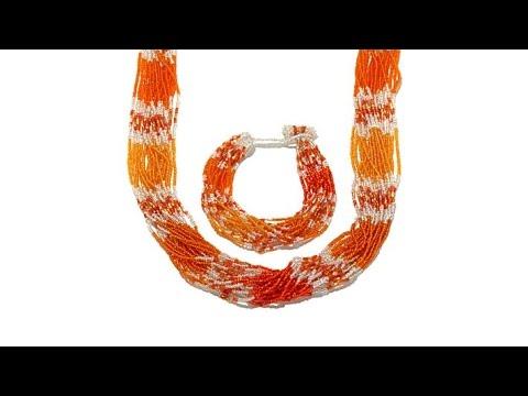 Himalayan Gems MultiStrand Bead Necklace and Bracelet