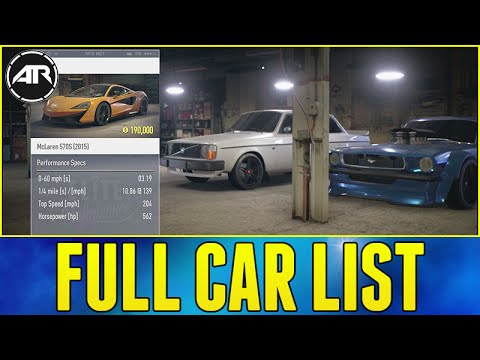 Need For Speed : FULL CAR LIST & PRICES!!! (Best Cars To Buy In NFS 2015)