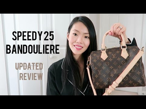LOUIS VUITTON SPEEDY 25 BANDOULIERE UPDATED REVIEW | FashionablyAMY