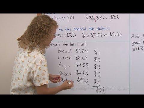 Round and estimate money amounts