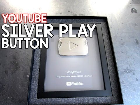 My Youtube SILVER PLAY Button