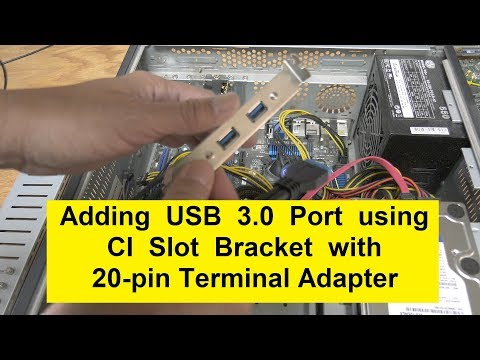 USB 3.0 Ports Using CI Slot Bracket to 20pin Adapter Cable