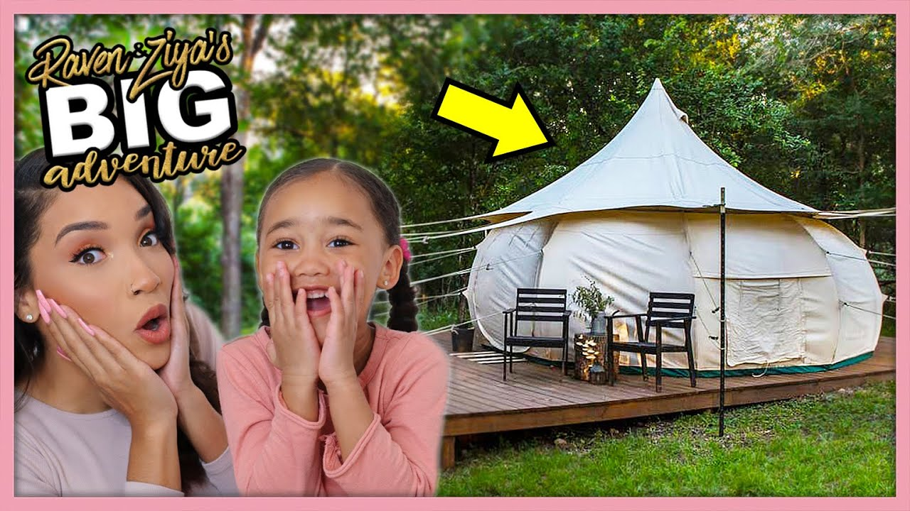 We Slept in a Yurt! (Glamping) | Our Big Adventure