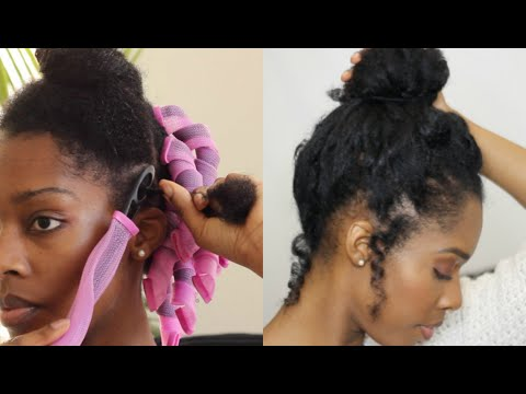 CURLFORMERS HEATLESS CURLS UPDO ON FINE NATURAL HAIR