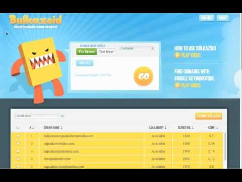 Bulkazoid - A Free Bulk Domain Checker