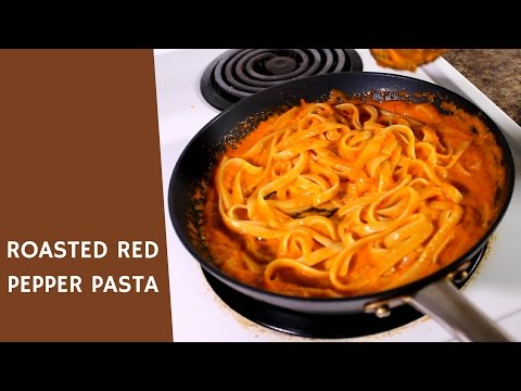ROASTED RED PEPPER PASTA | IDcooking.com