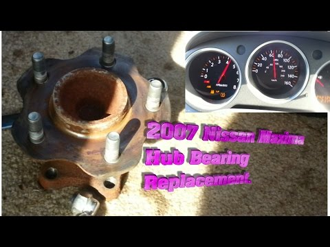 REAR HUB BEARING REPLACEMENT on 2007 NISSAN MAXIMA 3.5 SE