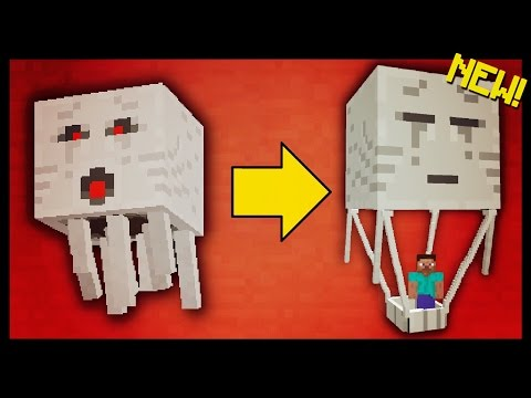 ✔️ Minecraft Pocket Edition - HOT AIR BALLOON ADDON! // turn GHASTS into vehicles! [MCPE 1.0.2]