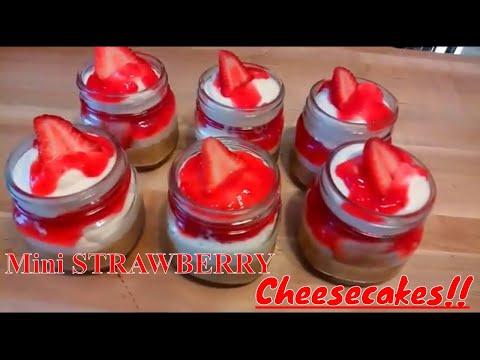 Easy Homemade STRAWBERRY Cheesecake Recipe / HOW TO MAKE STRAWBERRY CHEESECAKES / Kiwanna's Kitchen