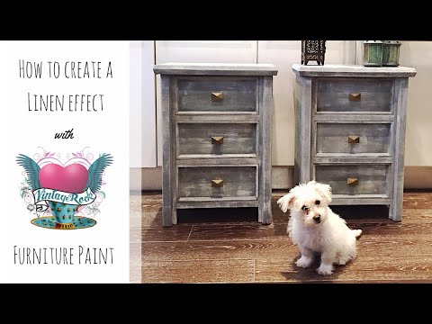 How to create a linen effect with Vintage Rocks Chalk Furniture Paint