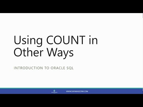 Using COUNT in Other Ways (Introduction to Oracle SQL)