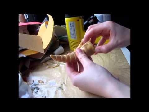 [Halloween DIY] Demon Horns Tutorial - Crafting & Painting