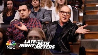 Michael Keaton Didnt Know He Was A Guest On Late Night
