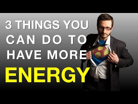 Want to know how to increase your energy levels naturally? Get more energy to have more energy!