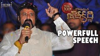 Nandamuri Balakrishna Powerful Speech at Gautamiputra Satakarni Theatrical Trailer Launch - #NBK100