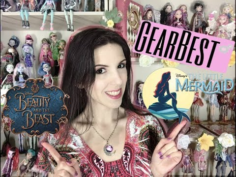 Trying out items from GearBest - Beauty and the Beast, Little Mermaid and crafting stuff?