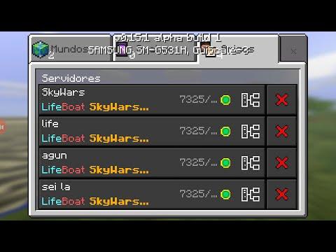 Como se registrar no servidor lifeboat SkyWars Minecraft PE todas as versões