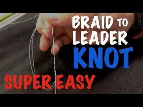 Surgeons Loop - Tying Braid to Mono fishing line -