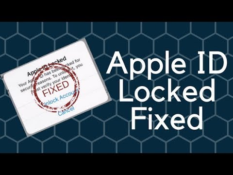 How to unlock a disabled Apple ID  locked for security reasons 2018
