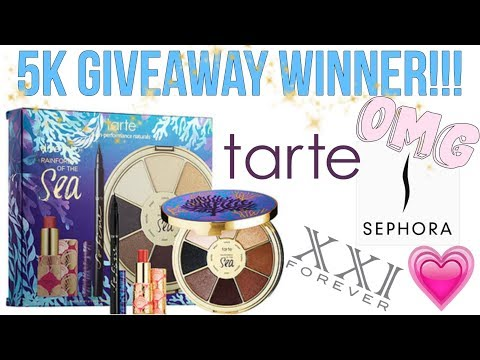5K SUBSCRIBER HIGH END BEAUTY GIVEAWAY WINNER ANNOUNCEMENT!