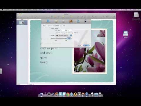 Exporting a Keynote Slide as a Photo (JPEG)