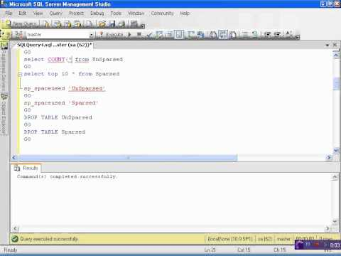 How to use Sparse Columns in SQL Server