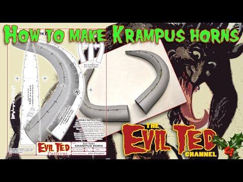 How to Make Krampus Horns.
