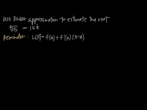 ESTIMATE THE ROOT with linear approximation (KristaKingMath)