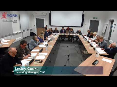 York Council Committee on Uber licence Renewal, 12 December 2017