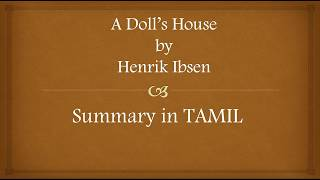 Henrik Ibsen A Doll S House Summary Videos 9tube Tv