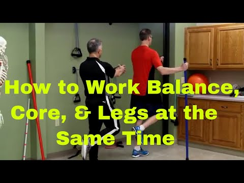 How To Work Core, Balance & Legs At The Same Time