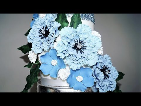 Cake decorating tutorials | how to make Fondant Flowers | Sugarella Sweets