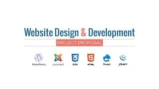 Web Design & Development Project Proposal Presentation HD Movie