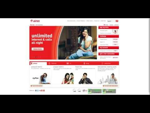 How to pay Airtel Postpaid Mobile bill online using Airtel.in