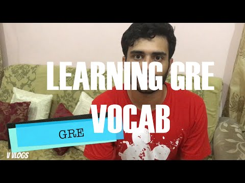How I am able to learn upto 50 GRE words per day? To learn GRE vocabulary | MS in US