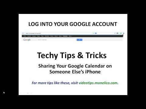 Sharing Your Google Calendar on Someone Else's iPhone