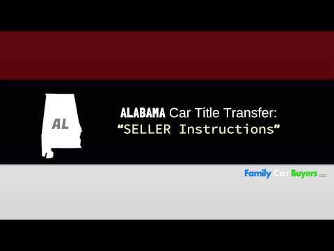 Transfer Title Alabama - Seller Instructions