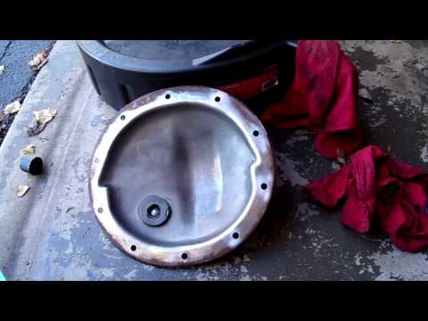 Changing Differential Fluid on Chevy Truck at Home. Front and Rear. 1995 K1500.