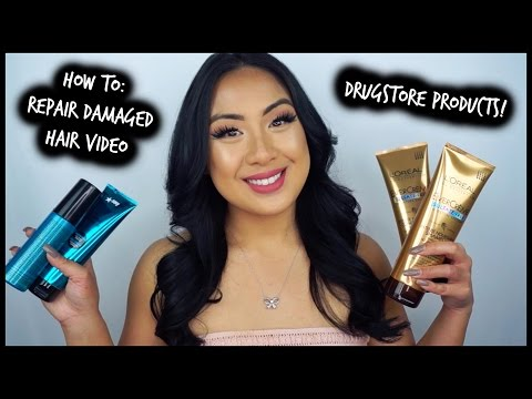 HOW TO: Repair Dry & Damaged Hair (DRUGSTORE PRODUCTS)