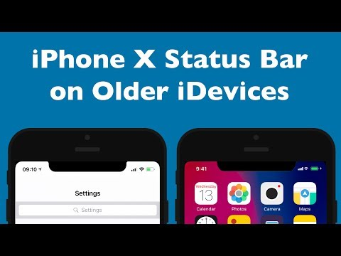 Get iPhone X Status Bar on Older iDevices