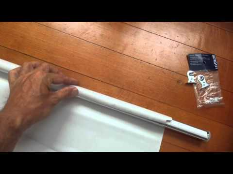 Levolor peel to width or DIY size at home roller blind