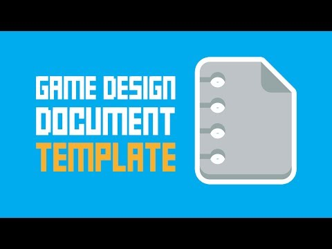 Game Design Document Template - One Page + Super Easy