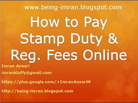 How to pay Stamp duty and Registration fees online