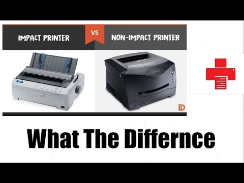 [Hindi-हिन्दी] Impact Printers VS No-Impact Printers II What The Differnces?