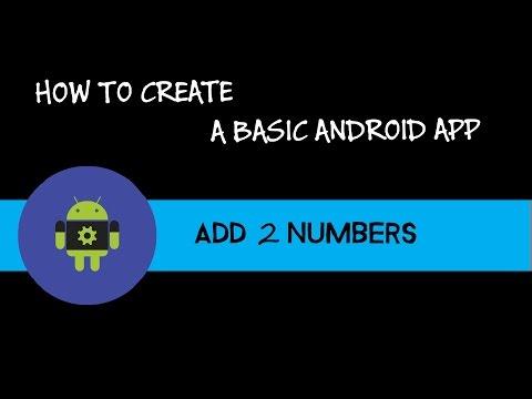 Android Studio : Basic App - Adding 2 numbers